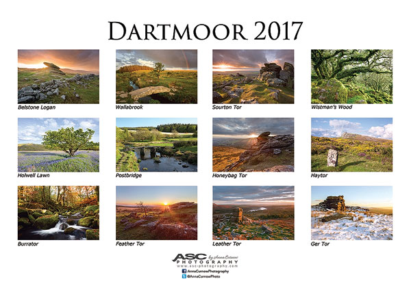Click for larger image of my Dartmoor 2016 Calendar