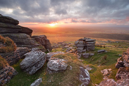 Arms Tor Sunset, Dartmoor