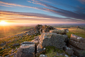 Sunset from Belstone Tor, Dartmoor