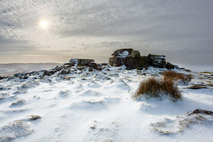 Belstone Tor after a wintery snow fall, Dartmoor