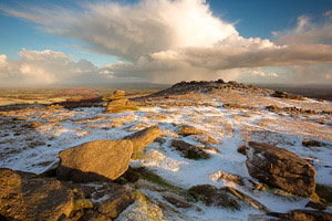Belstone Tor after a light covering of snow, Dartmoor