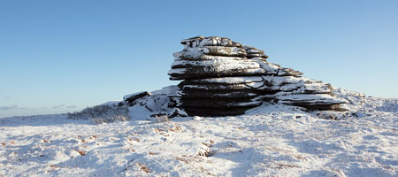 Snow covered High Willhays, Dartmoor