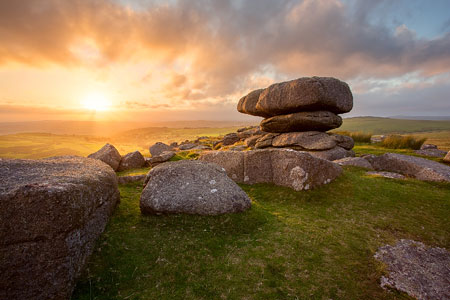 Sundown over Roos Tor